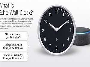 أمازون Echo Wall Clock .. ساعة حائط بتطبيق أليكسا